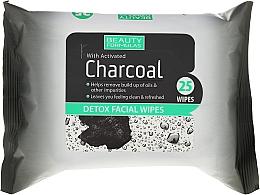 Perfumería y cosmética Toallitas desintoxicantes faciales con carbón activado - Beauty Formulas Charcoal Detox Facical Wipes