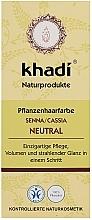 Perfumería y cosmética Mascariilla-acondicionador para cabello orgánica con henna neutra - Khadi Hair Conditioner