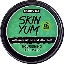 Perfumería y cosmética Mascarilla facial natural nutritiva con aceite de aguacate y vitamina E - Beauty Jar Skin Yum Nourishing Face Mask