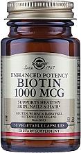 Perfumería y cosmética Complemento alimenticio en cápsulas de Biotina, 1000 mcg - Solgar Enhanced Potency Biotin
