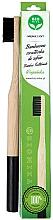 Perfumería y cosmética Cepillo dental de bambú, suave, negro - Biomika Natural Bamboo Toothbrush