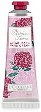 Perfumería y cosmética Crema de manos nutritiva con manteca de karité y extracto de peonía - L'Occitane Pivoine Flora Hand Cream