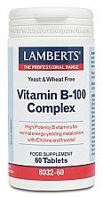 Perfumería y cosmética Complemento alimenticio de complejo vitamínico B-100, en comprimidos - Lamberts Vitamin B-100 Complex