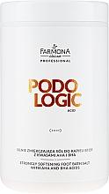 Perfumería y cosmética Sales de baño para pies con ácidos AHA y BHA - Farmona Podologic Acid Strongly Softening Foot Bath Salt