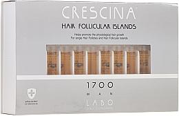 Perfumería y cosmética Tratamiento en ampollas estimulador del crecimiento de cabello para hombres 1700 - Crescina Hair Follicular Islands Re-Growth 1700