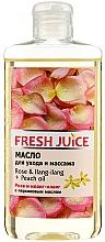 Perfumería y cosmética Aceite de masaje con melocotón y extractos de rosa e ylang-ylang - Fresh Juice Energy Rose&Ilang-Ilang+Peach Oil