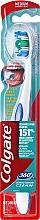 Perfumería y cosmética Cepillo dental medio, blanco-azul - Colgate 360°