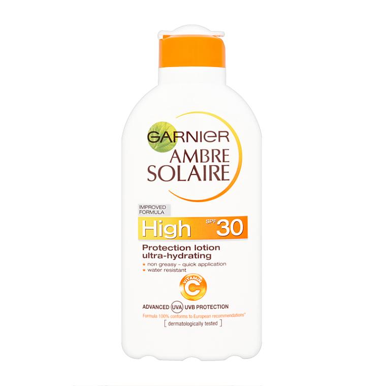 Loción corporal de protección solar resistente al agua, SPF 30 - Garnier Ambre Solaire High Protection Lotion — imagen N1