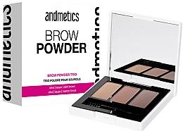 Perfumería y cosmética Paleta de sombras de cejas - Andmetics Brow Powder Trio