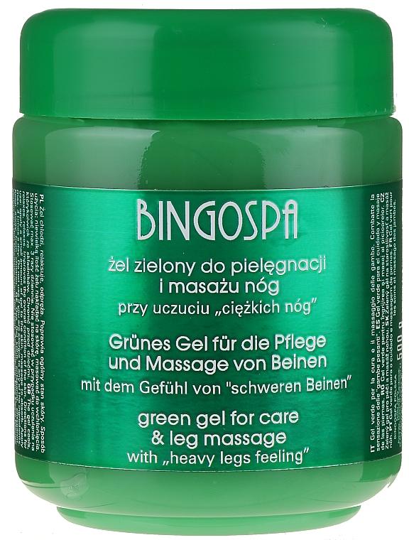 Gel para masaje de piernas con aceite de menta y aloe - BingoSpa Green Gel
