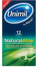 Perfumería y cosmética Preservativos con agua de aloe vera, 12uds. - Unimil Natural Aloe