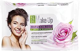 Perfumería y cosmética Toallitas desmaquillantes con aceite de rosa para pieles sensibles - Nature of Agiva Wet Wipes Cleaning Make Up Rose Oil