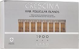 Perfumería y cosmética Tratamiento en ampollas estimulador del crecimiento de cabello para hombres 1900 - Crescina Hair Follicular Islands Re-Growth 1900