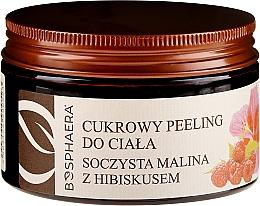 Perfumería y cosmética Exfoliante corporal natural a base de azúcar, frambuesa e hibisco - Bosphaera