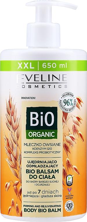 Bálsamo corporal rejuvenecedor para pieles secas y maduras con leche de avena - Eveline Cosmetics Bio Organic Firming And Rejuvenating Body Bio Balm Oat Milk