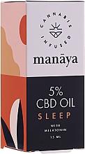 Perfumería y cosmética Aceite de cáñamo con melatonina para dormir bien - Manaya 5 % CBD Oil Sleep With Melatonin