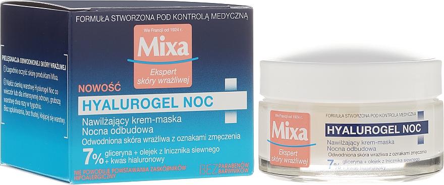 Mascarilla en crema hidratante con glicerina, ácido hialurónico y aceite de camelina - Mixa Sensitive Skin Expert Hyalurogel Skin Night