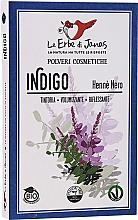 Perfumería y cosmética Polvo colorante de cabello de índigo, bio - Le Erbe di Janas Indigo (Black Henna)