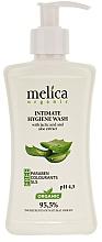 Perfumería y cosmética Gel de higiene íntima con ácido láctico y extracto de aloe vera - Melica Organic Intimate Hygiene Wash