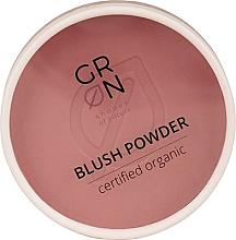 Perfumería y cosmética Colorete facial en polvo compacto, orgánico - GRN Blush Powder