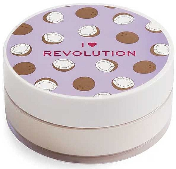 Polvo suelto de maquillaje cocido, aroma a coco - I Heart Revolution Loose Baking Powder Coconut