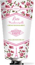 Perfumería y cosmética Crema de manos con karité, aroma a rosas para pieles secas - Institut Karite Rose Mademoiselle Light Shea Hand Cream