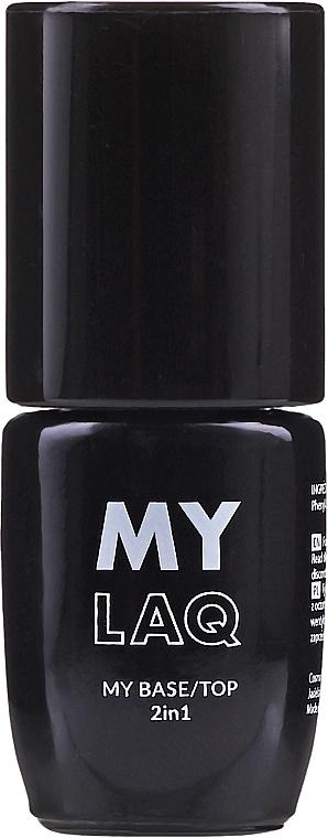 Base y top coat gel 2en1, UV/LED - MylaQ My Base/Top 2in1
