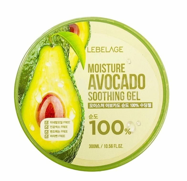 Gel facial calmante con extracto de aguacate - Lebelage Moisture Avocado 100% Soothing Gel