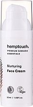 Perfumería y cosmética Crema facial nutritiva con aceite de cáñamo y ácido hialurónico, vegana - Hemptouch Nurturing Face Cream