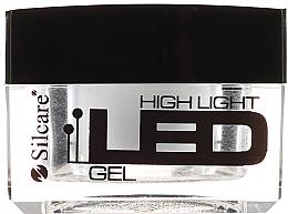 Perfumería y cosmética Gel constructor de uñas, blanco - Silcare High Light LED Bianco