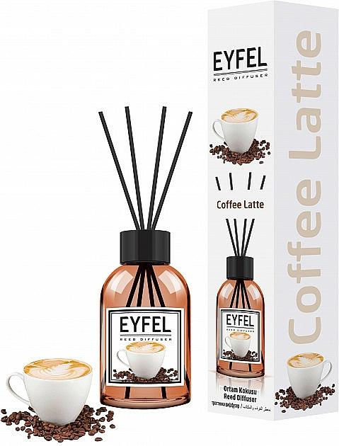 Ambientador Mikado con aroma a café - Eyfel Perfume Reed Diffuser Coffee