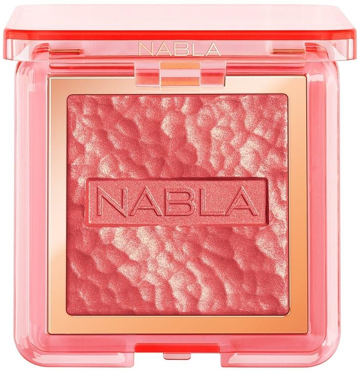 Colorete facial en polvo compacto con efecto brillante, vegano - Nabla Miami Lights Collection Skin Glazing