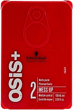 Perfumería y cosmética Pasta texturizante moldeadora para cabello con efecto mate - Schwarzkopf Professional Osis+ Mess Up Matt Gum