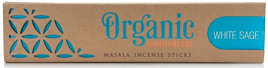 Varitas de incienso con aroma a salvia blanca - Song Of India Organic Goodness White Sage