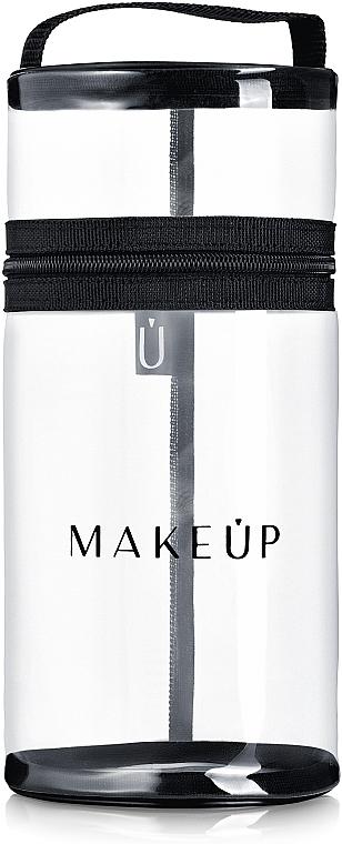 Neceser cosmético para brochas de maquillaje, transparente (24x10cm) - MakeUp Allvisible
