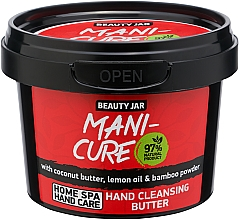 Perfumería y cosmética Manteca natural limpiadora de manos de coco y polvo de bambú - Beauty Jar Mani-Cure Hand Cleansing Butter