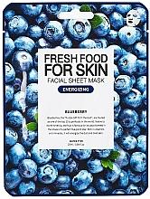 Perfumería y cosmética Mascarilla facial de tejido energizante con extracto de arándano - Superfood For Skin Facial Sheet Mask Blueberry Energizing