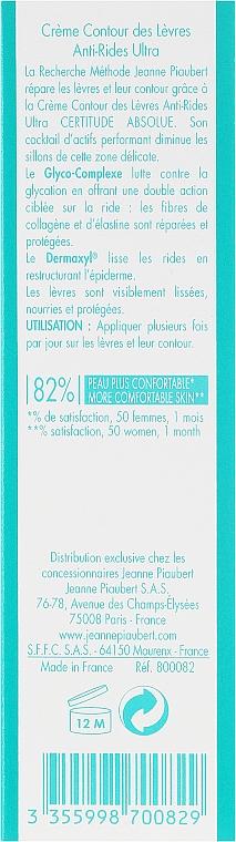 Crema antiedad para contorno de labios con extracto de avena - Methode Jeanne Piaubert Certitude Absolue Ultra Anti-Wrinkle Lip Contour Care — imagen N3