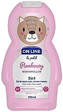 Perfumería y cosmética Gel de ducha infantil para cuerpo, cabello y rostro con aroma a malvavisco - On Line Le Petit Marshmallow 3 In 1 Hair Body Face Wash