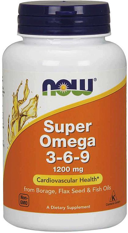 Complemento alimenticio con Omega 3-6-9 para la salud cardiovascular, 1200mg - Now Foods Super Omega 3-6-9 1200 mg