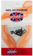 Perfumería y cosmética Cadena para uñas, 00377 dorado-negro - Ronney Professional
