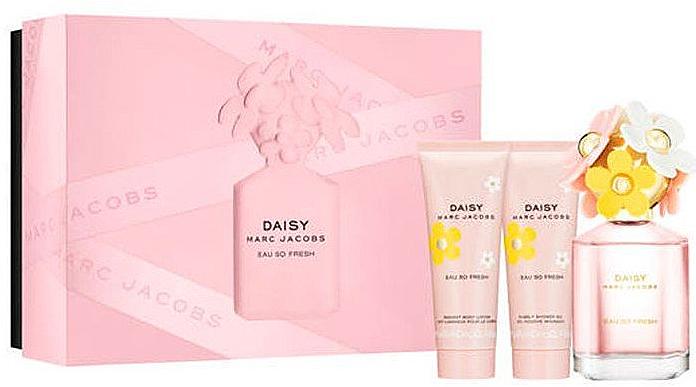 Marc Jacobs Daisy Eau So Fresh - Set (eau de toilette/75ml + loción corporal/75ml + gel de ducha/75ml)