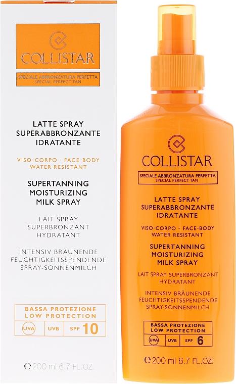 Spray protector solar facial y corporal con vitamina E - Collistar Supertanning Moisturing Milk Spray SPF 10 water resistant — imagen N1