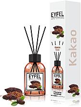 Perfumería y cosmética Ambientador Mikado con aroma a cacao - Eyfel Perfume Reed Diffuser Cocoa