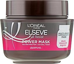 Perfumería y cosmética Mascarilla capilar fortificante con biotina y vitamina B5 - L'Oreal Paris Elseve Full Resist Power Mask
