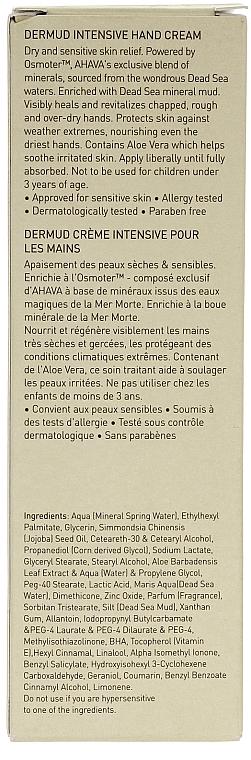 Crema de manos con barro mineral del Mar Muerto - Ahava Dermud Hang Cream Dry & Sensitive Relief — imagen N3