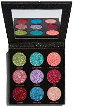 Perfumería y cosmética Paleta de sombras de ojos brillantes con espejo - Makeup Revolution Pressed Glitter Palette Abracadabra