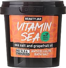 Perfumería y cosmética Sal de baño anticelulítico natural con aceite de pomelo - Beauty Jar Anticellulite Bath Salt, Vitamin Sea