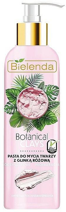 Pasta facial limpiadora con arcilla rosa - Bielenda Botanical Clays Vegan Face Wash Paste Pink Clay