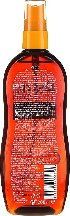 Aceite seco para bronceado SPF20 - Astrid Sun Suncare Spray Oil SPF20 — imagen N2